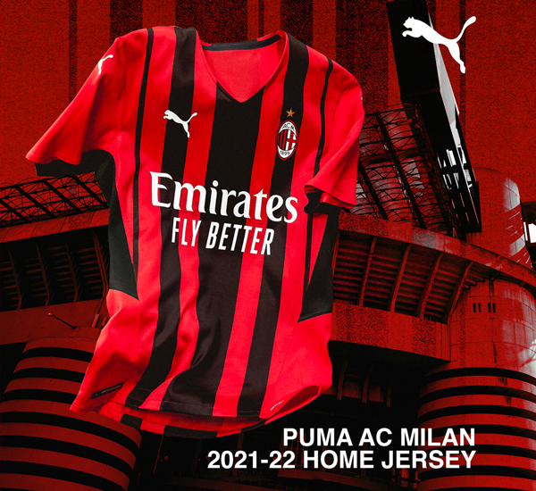 new 2021 2022 ac milan jersey by puma