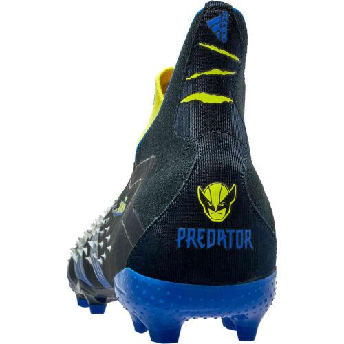 Kids adidas x Marvel X-Men Predator Freak+ FG – Bright Yellow & Silver Mtellic with Core Black