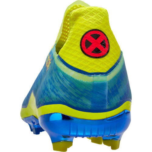 Kids adidas x Marvel X-Men X Ghosted+ FG – Blue & Vivid Red with Bright Yellow