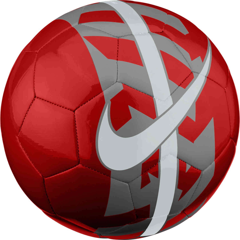 b894db31eaa Nike React Soccer Ball - Bright Crimson Dark Grey Pure Platinum ...