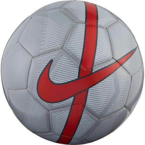 Nike Mercurial Fade Soccer Ball – Wolf Grey/Pure Platinum/Bright Crimson