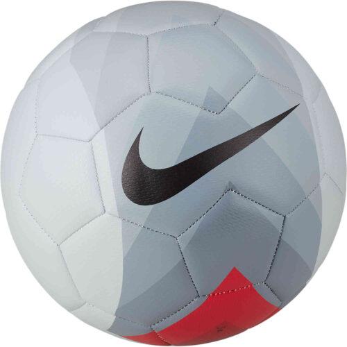Nike FootballX Strike Soccer Ball – Pure Platinum.Bright Crimson/Dark Grey