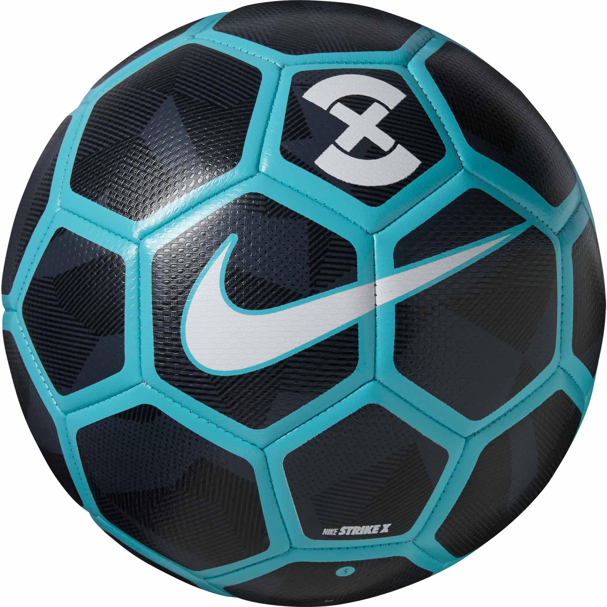 Nike Strike X Soccer Ball - Obsidian & Gamma Blue