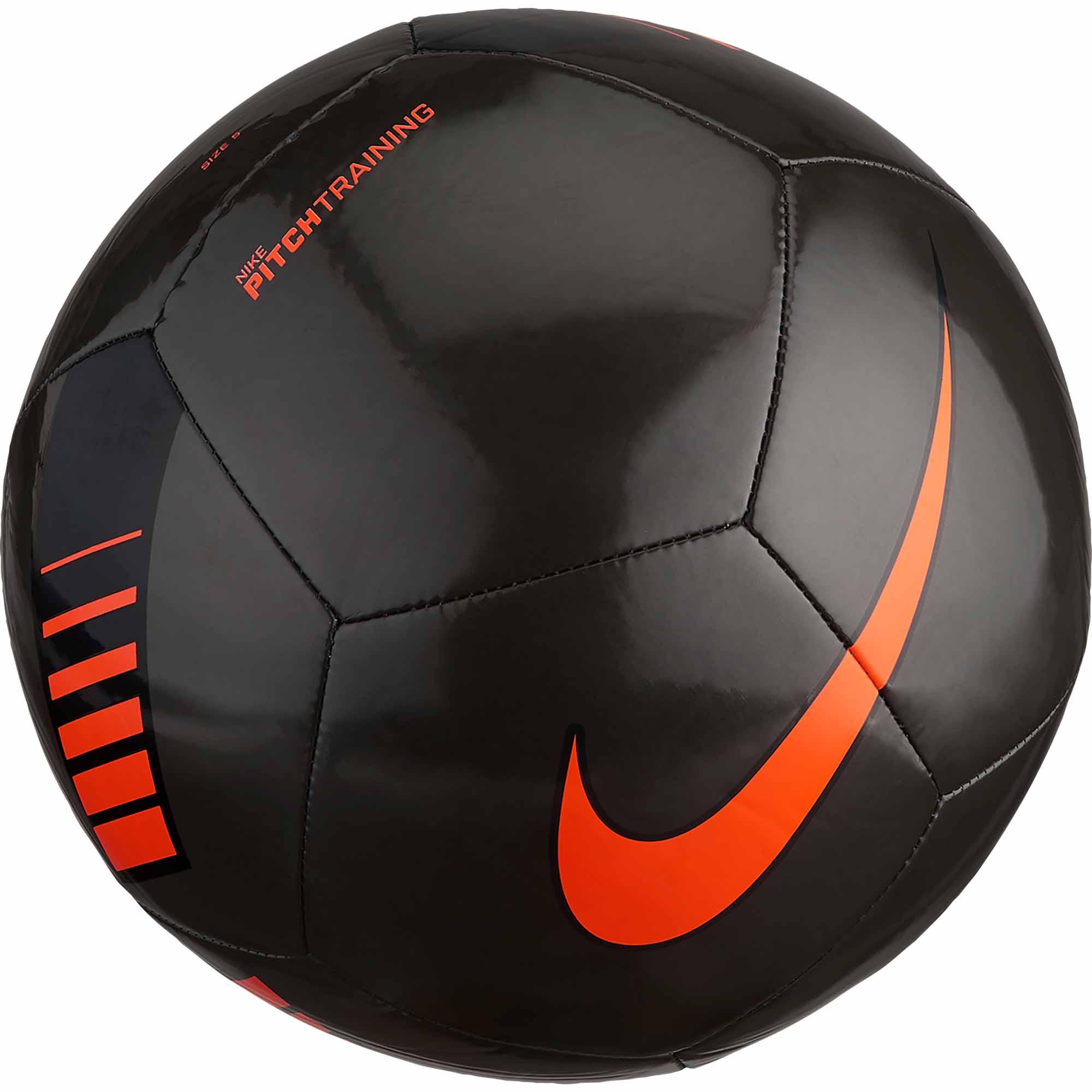 47e6f416d Nike Pitch Training Soccer Ball – Metallic Black Total Orange