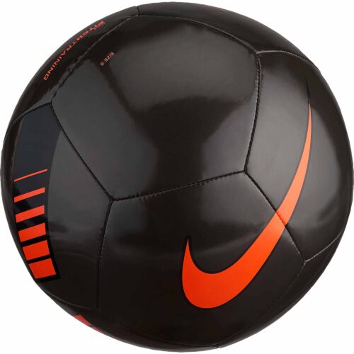 Nike Pitch Training Soccer Ball – Metallic Black/Total Orange