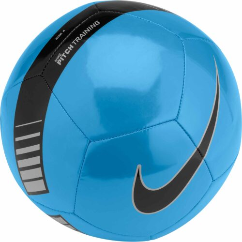 Nike Pitch Training Soccer Ball – Cyan/Silver