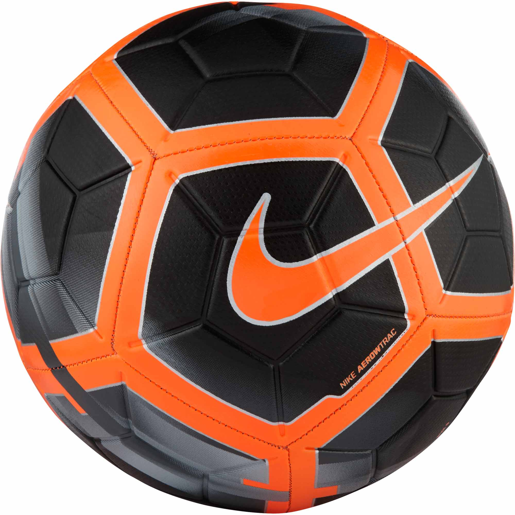 Nike Strike Soccer Ball - Black & Total Orange - SoccerPro.com