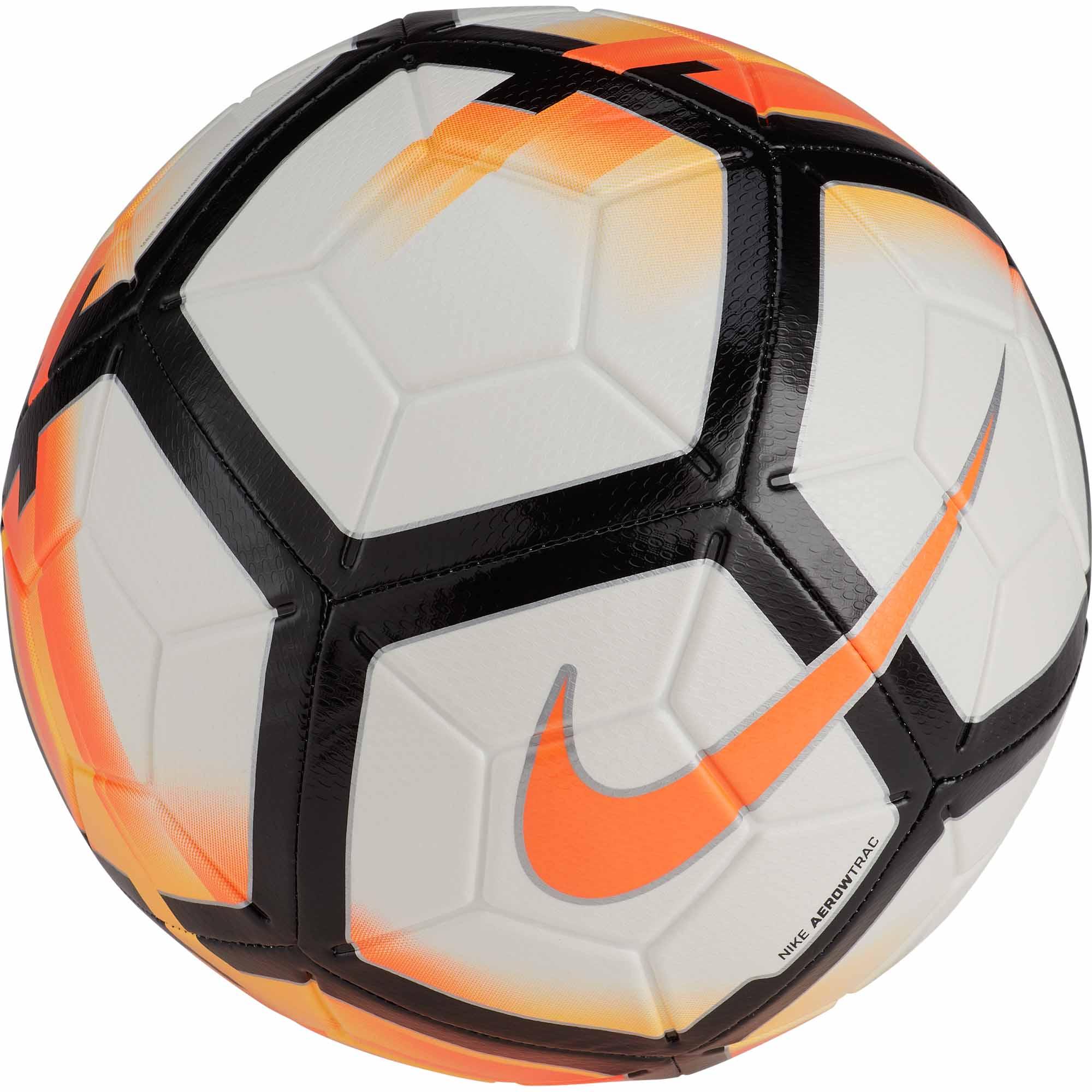 nike strike soccer ball white total orange soccerpro com