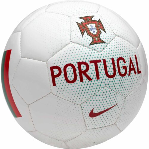 Nike Portugal Supporter Soccer Ball – White/Kinetic Green