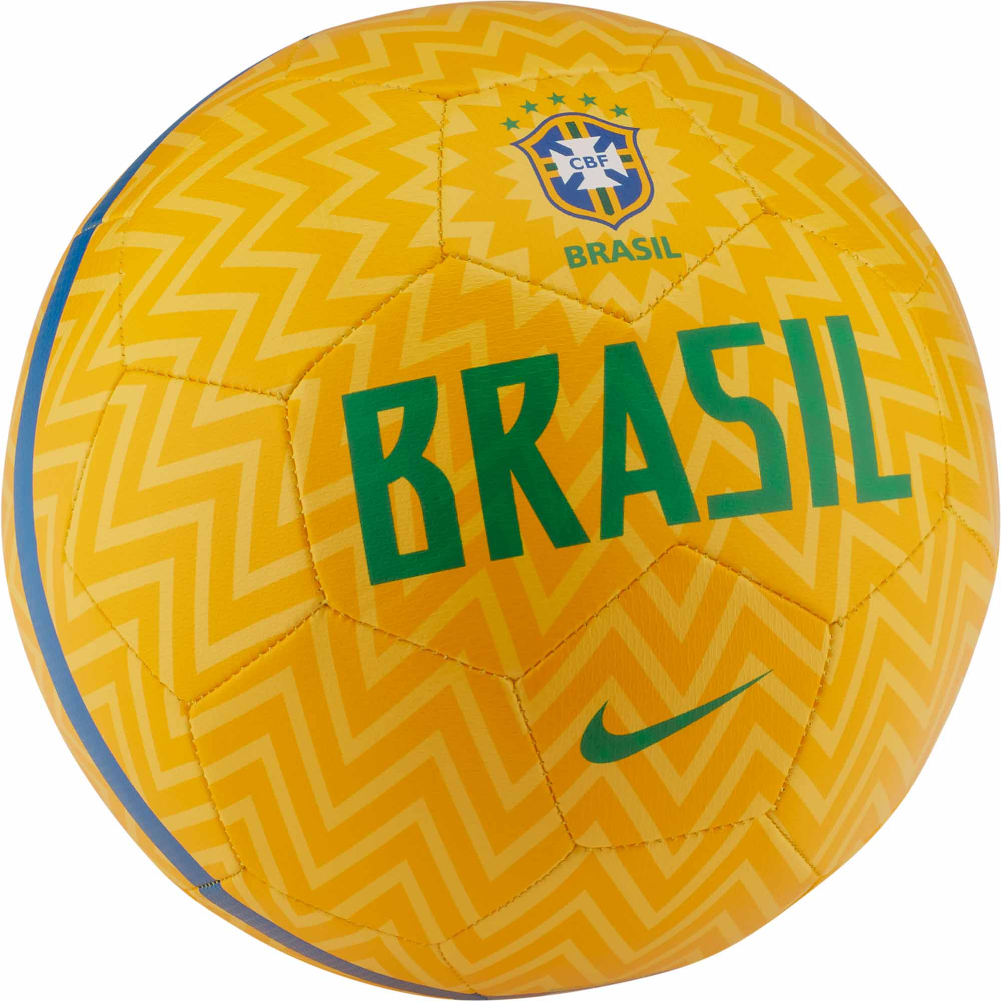 698d93336 Nike Brazil Prestige Soccer Ball - Gold/Lucky Green - SoccerPro.com