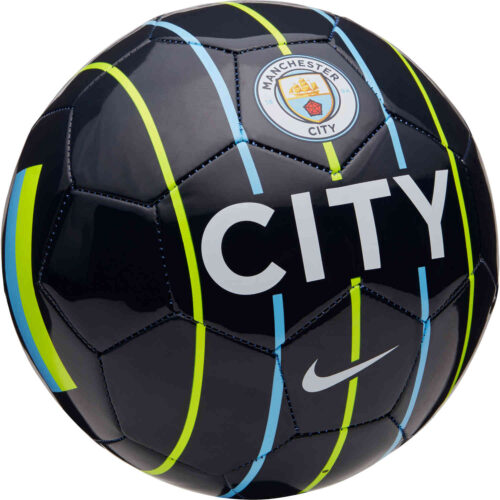 Nike Manchester City Supporters Soccer Ball – Dark Obsidian/Volt/Field Blue/Whtie