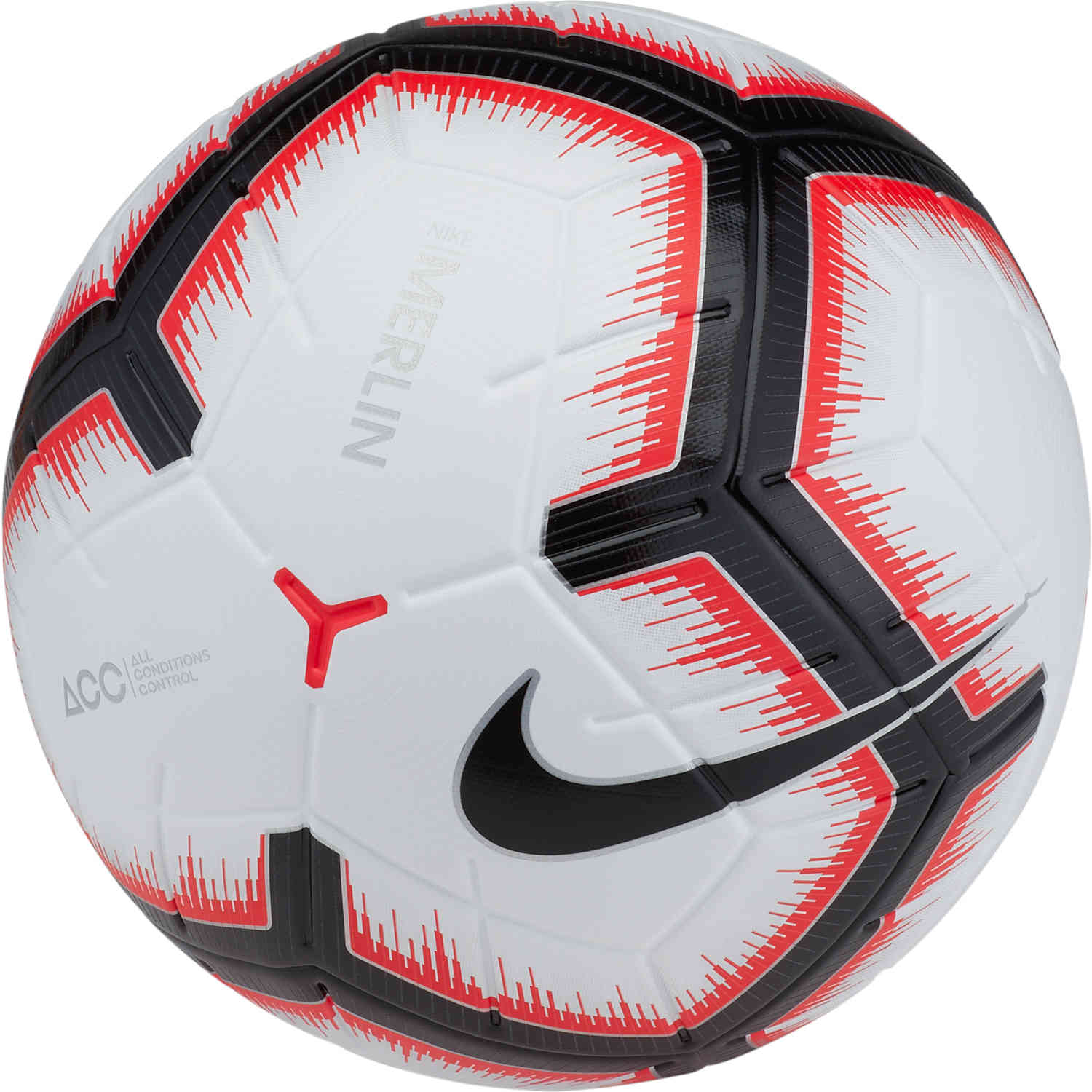 Nike Merlin Match Ball - White/Bright Crimson/Black ...