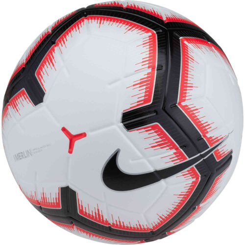 Nike Merlin Match Ball – White/Bright Crimson/Black