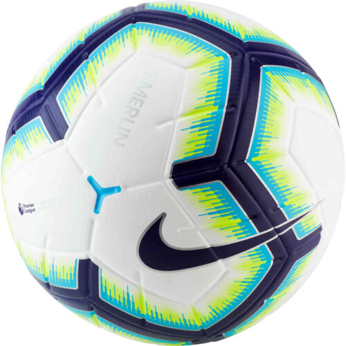 Nike Merlin Match Ball – EPL – White/Blue/Purple