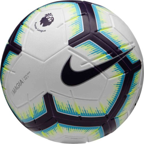 Nike Premier League Magia Match Soccer Ball – White/Blue/Purple