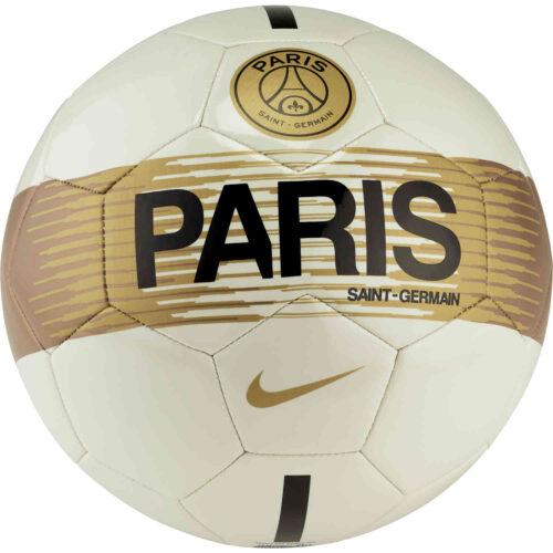 Nike PSG Supporters Soccer Ball – Light Bone/Black/Gold