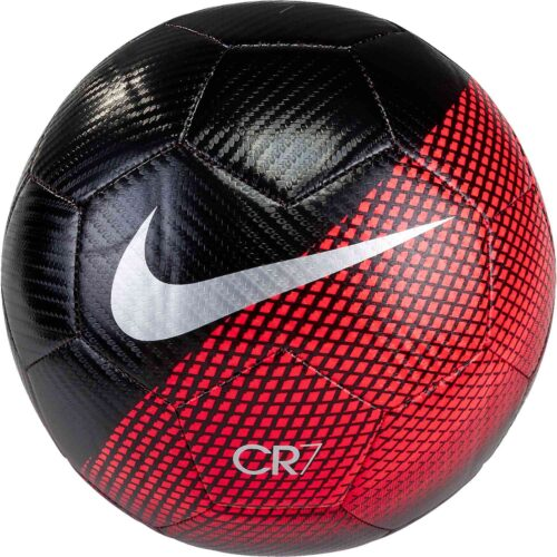 Nike CR7 Prestige Soccer Ball – Black/Flash Crimson/Silver