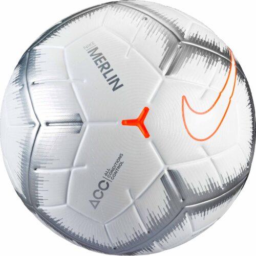 Nike Merlin Match Ball – White/Chrome
