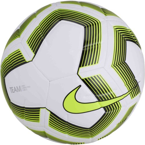 Nike Team Strike Pro Team Soccer Ball – White/Black/Volt
