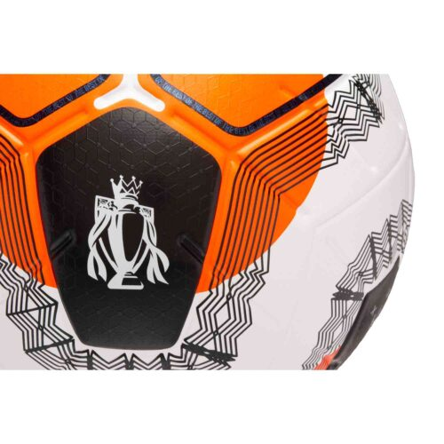 Nike Premier League Merlin Official Match Soccer Ball – White with Black and Hyper Crimson