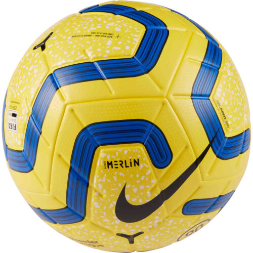 Nike Hi-vis Premier League Merlin Official Match Soccer Ball – Yellow/Blue/Black