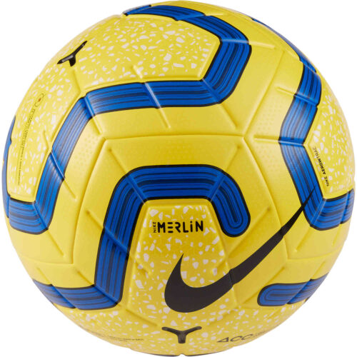Nike Hi-vis Premier League Merlin Official Match Soccer Ball – Yellow/Blue/Black