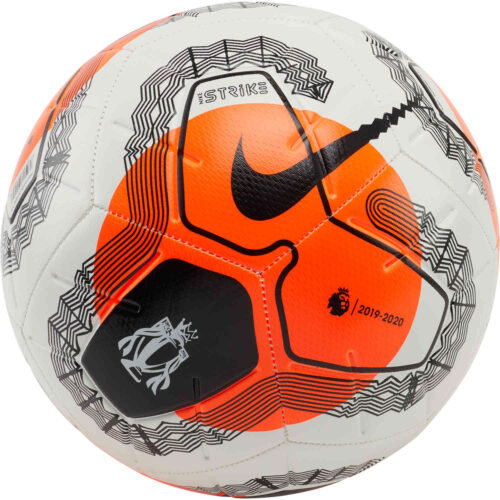 Nike Premier League Strike Soccer Ball – White & Hyper Crimson with Black