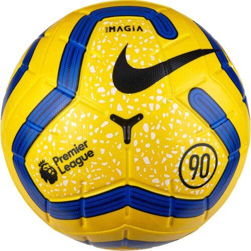 Nike Hi-vis Premier League Magia Match Soccer Ball – Yellow/Blue/Black