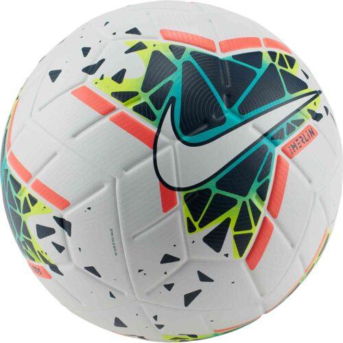 Nike Merlin Premium Match Soccer Ball – White/Obsidian/Blue Fury