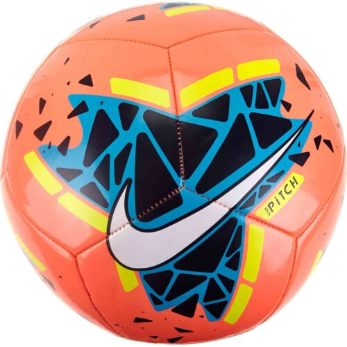 Nike Pitch Training Soccer Ball – Bright Mango/Obsidian/Volt