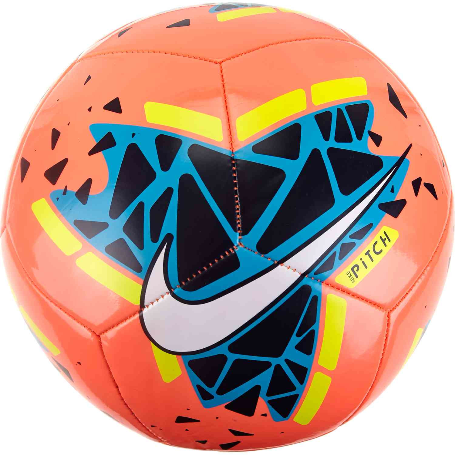 new specials performance sportswear preview of Nike Pitch Training Soccer Ball - Bright Mango/Obsidian/Volt ...