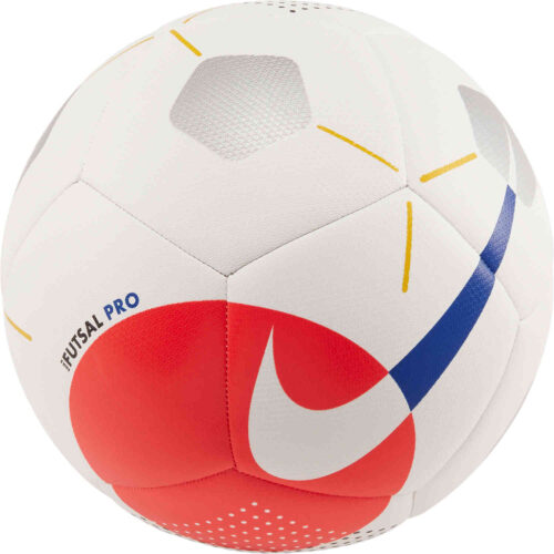 Nike Pro Futsal Ball – White/Bright Crimson/Racer Blue