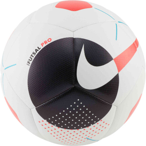 Nike Pro Futsal Ball – White & Black with Laser Crimson