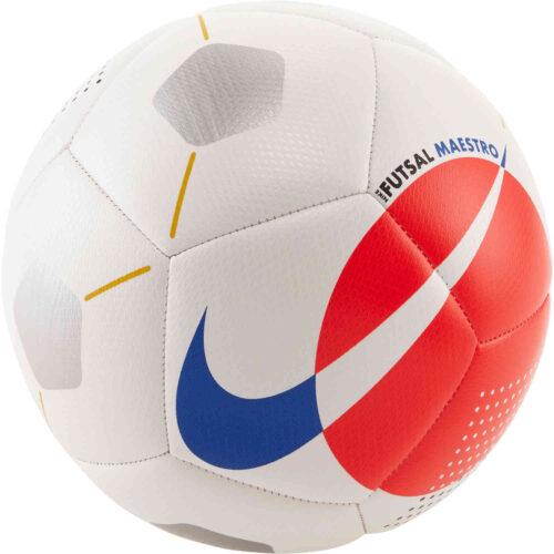Nike Maestro Futsal Ball – White/Bright Crimson/Racer Blue