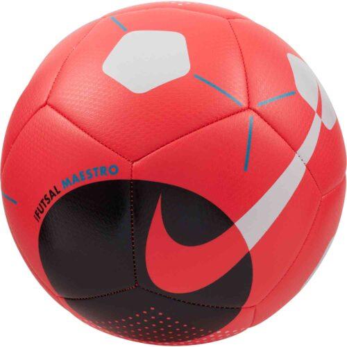 Nike Maestro Futsal Ball – Laser Crimson & Black with White