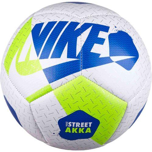 Nike Akka Street Soccer Ball – White/Volt/Hyper Cobalt