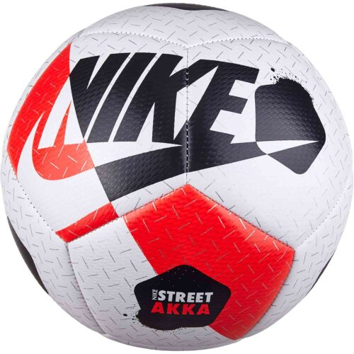 Nike Akka Street Soccer Ball – White/Bright Crimson/Black
