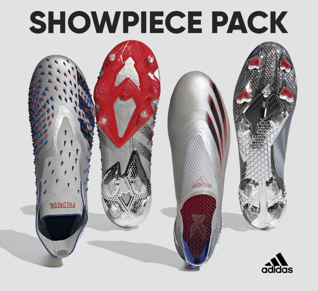 showpiece pack by adidas soccer cleats firm ground x ghosted and predator