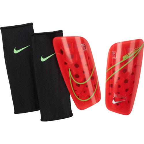 Nike Mercurial Lite Shin Guards – Bright Crimson & Rage Green with Silver
