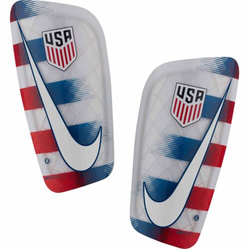 Nike Mercurial Lite Shin Guards – USA – White/University Red