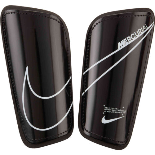 Nike Mercurial Hardshell Shin Guards – Black & White with White