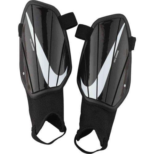 Kids Nike Charge Shin Guards – Black/White