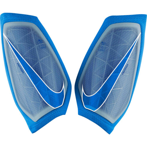 Kids Nike Protegga Shin Guards – Blue Hero/White/Blue Hero