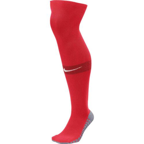 Nike Team Matchfit Soccer Socks – University Red/Gym Red