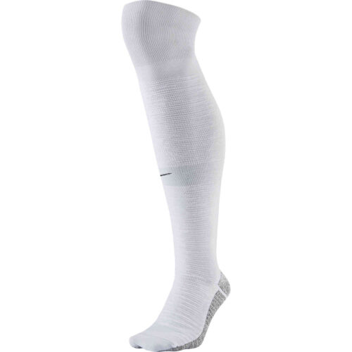 NikeGrip Strike Light Team Soccer Socks – White/Pure Platinum