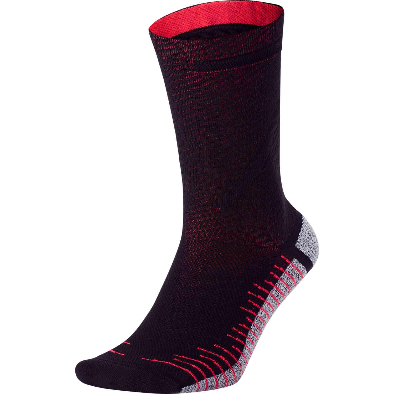 Nike CR7 Crew Socks - Black/Bright Crimson - SoccerPro