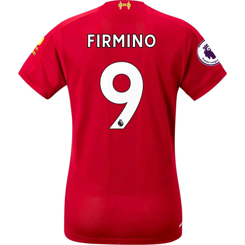 2019/20 Womens New Balance Roberto Firmino Liverpool Home ...