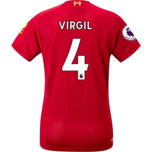 3d6957a155a 2019 20 Womens New Balance Virgil van Dijk Liverpool Home Jersey